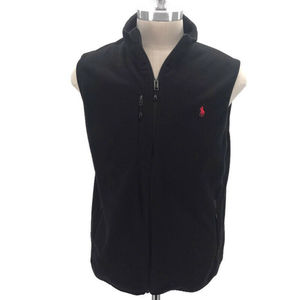 Polo Ralph Lauren Soft Black Fleece Vest